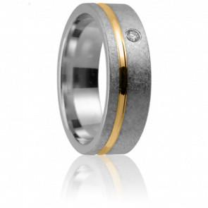 Alliance Anticlée 6 mm 2 Ors et Diamant