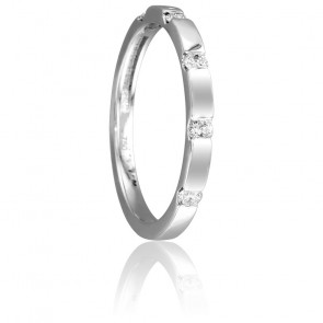 Bague Capiton Or Blanc 18K & Diamants