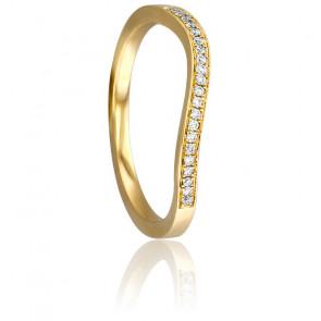 Bague Vague Diamantée Or Jaune 18K & Diamants