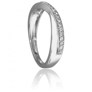 Bague Brin Diamanté Or Blanc 18K & Diamants