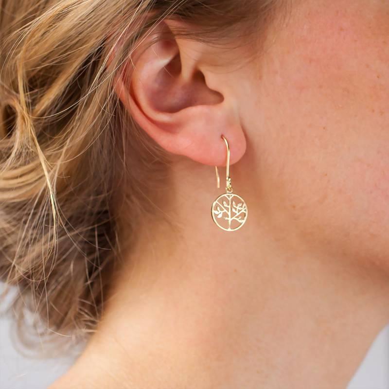 La vie en or boucle d'oreille
