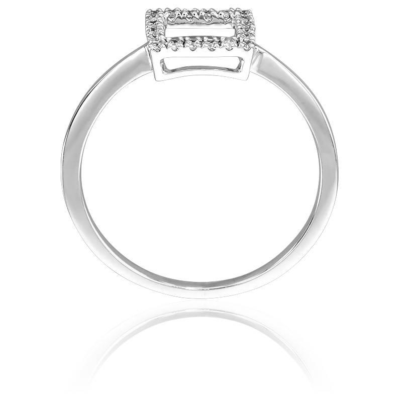bague carr ajour or blanc diamants juweel ocarat. Black Bedroom Furniture Sets. Home Design Ideas
