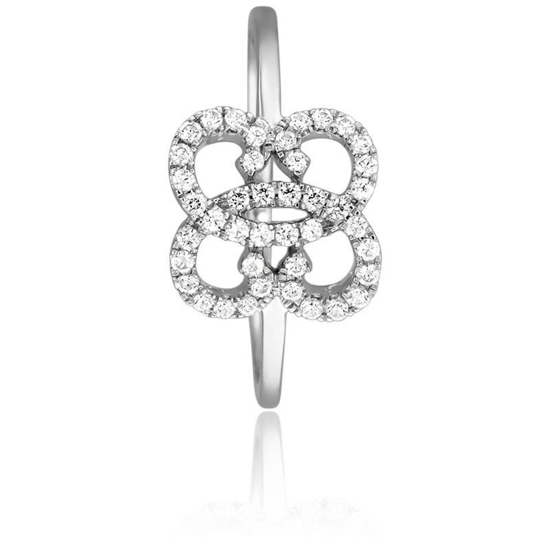 bague or blanc diamant papillon