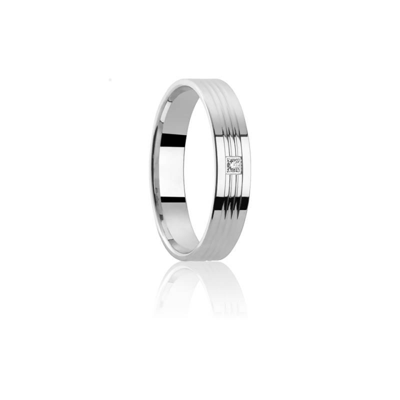 Alliance Aritimi 4 mm Or Blanc 18K & Diamant