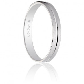 Alliance Almorox 3 mm Or Blanc 18K