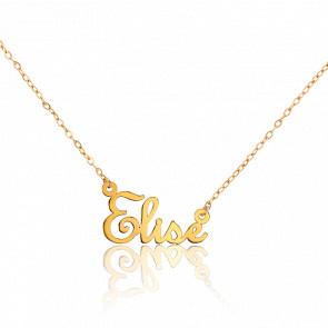 Collier Prénom Elise Or Jaune 18 carats