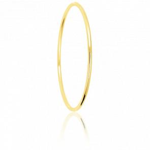 Bracelet Jonc Fil Rond Massif 80 mm Or Jaune 18K