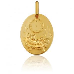 Médaille Ovale Enfant Jésus Or Jaune 18K