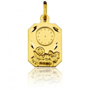 Médaille Rectangulaire Enfant Jésus Or Jaune 18K