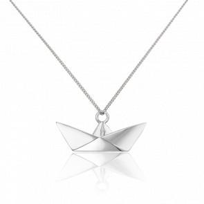 Sautoir Bâteau Origami Argent - Origami Jewellery