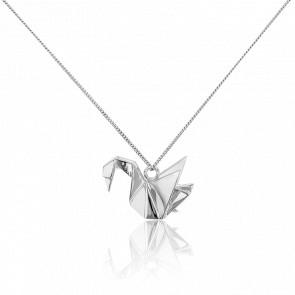 Sautoir Cygne Origami Argent - Origami Jewellery