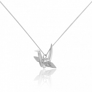 Sautoir Cocotte Origami Argent - Origami Jewellery