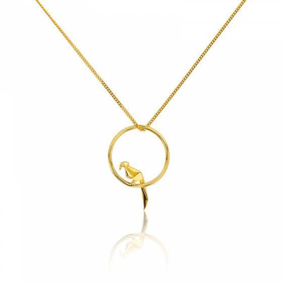 ce848e1245a Collier Perroquet Argent Doré - Origami Jewellery - Ocarat