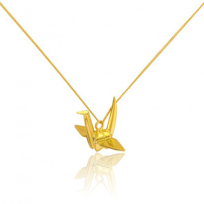 Sautoir Cocotte Origami Doré - Origami Jewellery