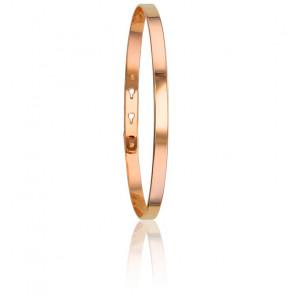 Bracelet Jonc Rose Doré