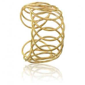 Bracelet Manchette Multiplicity Circles Plaqué Or Jaune