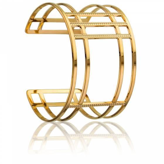 bracelet manchette cl a plaqu or jaune na ades ocarat. Black Bedroom Furniture Sets. Home Design Ideas