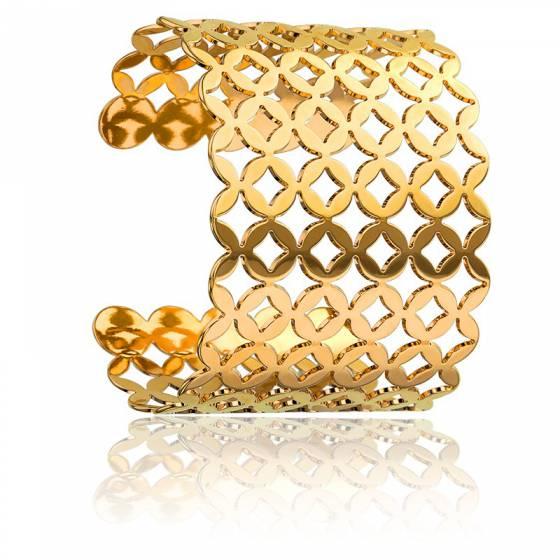 bracelet manchette cardamine dor plaqu or na ades ocarat. Black Bedroom Furniture Sets. Home Design Ideas