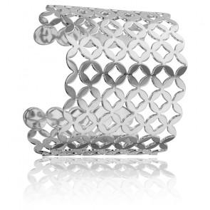 Bracelet Manchette Cardamine Argent