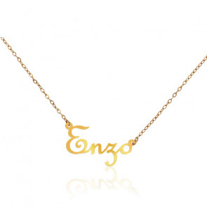 Collier Prénom Enzo Or Jaune 18 carats