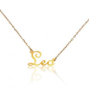 Collier Prénom Léo Or Jaune 18 carats