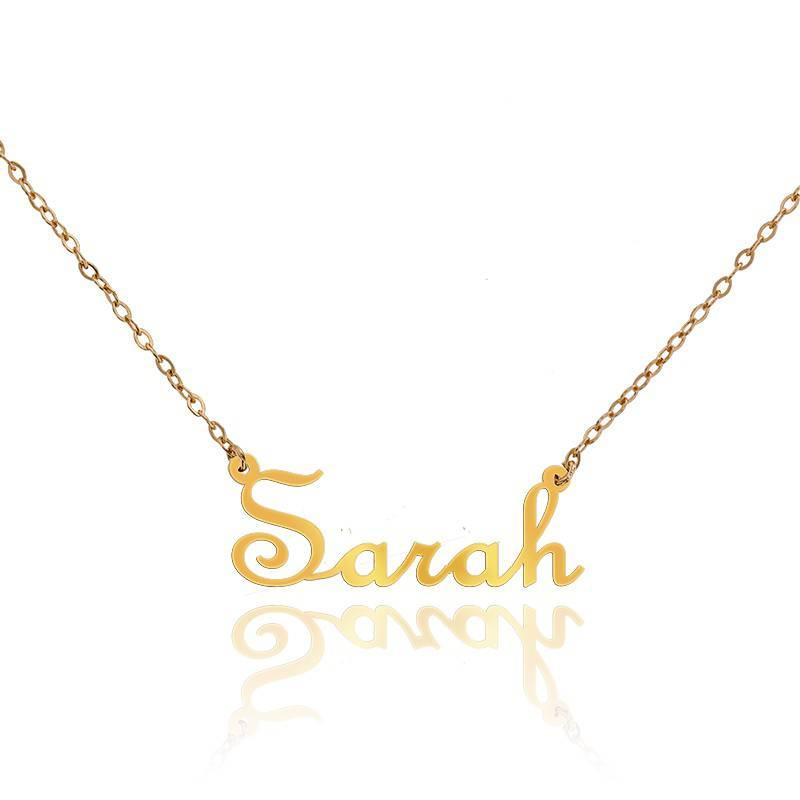 collier pr nom sarah en or jaune 18 carats ocarat. Black Bedroom Furniture Sets. Home Design Ideas