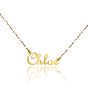 Collier Prénom Chloé Or Jaune 18K