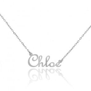 Collier Prénom Chloé Or Blanc 18K