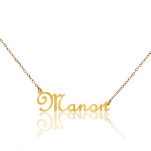 Collier Prénom Manon Or Jaune 9K