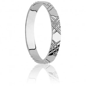 Alliance Ozoir en Or Blanc 18K, 3 mm