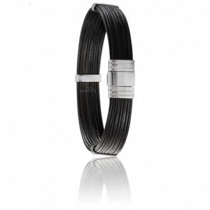 Bracelet 696 Poils Éléphant & Or Blanc 18K