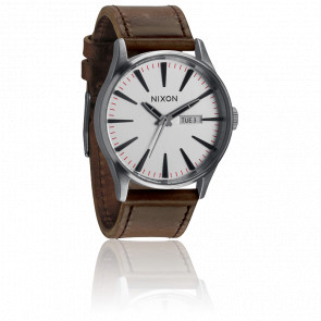 Sentry Leather Silver / Brown A105-1113