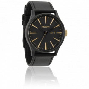 Sentry Leather Matte Black/Gold A105-1041