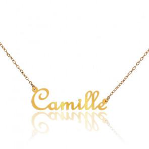 Collier Prénom Camille Or Jaune 9K