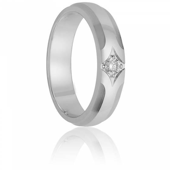 Alliance Otuzco 4,5 mm Or Blanc & Diamant