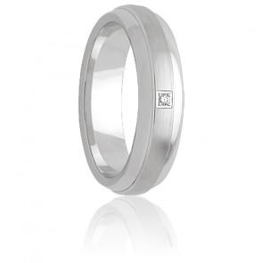 Alliance Saposao 6 mm Or Blanc & Diamant