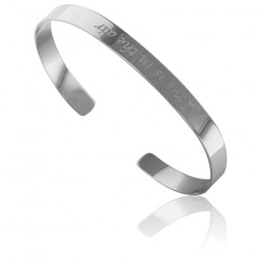 Bracelet Jonc Love is in the air Argent