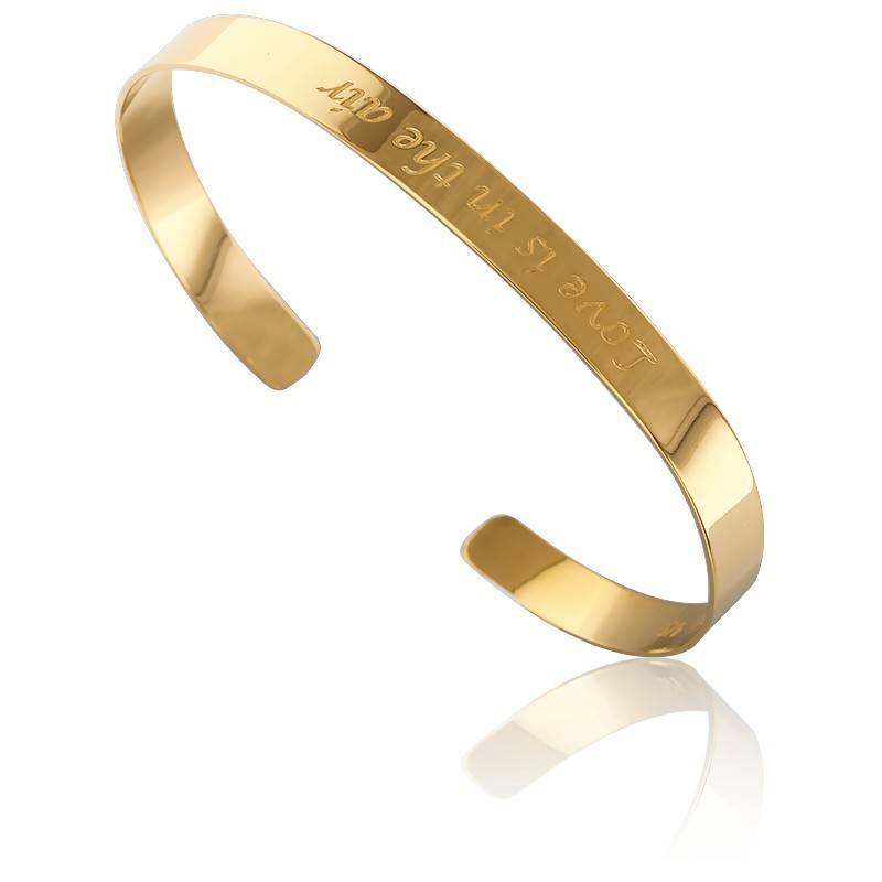 bracelet jonc love is in the air jaune very sisters ocarat. Black Bedroom Furniture Sets. Home Design Ideas