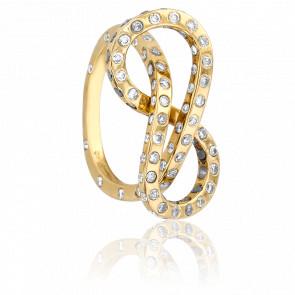 Bague Moebius Diamants & Or Jaune 18K