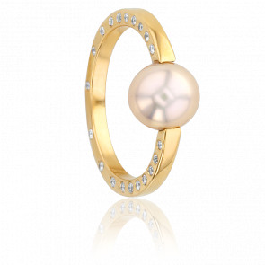 Bague Nude Diamants, Perle & Or Jaune 18K