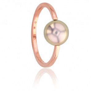 Bague Nude Perle de Culture & Or Rose 18K