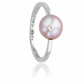 Bague Nude Perle de Culture & Or Blanc 18K