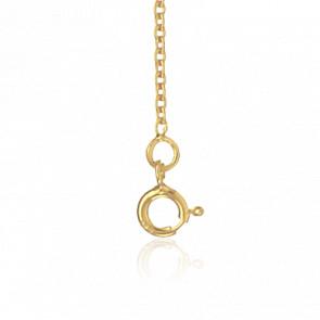 Bracelet Chaîne Forçat Ronde, Or Jaune 18K, longueur 14 cm