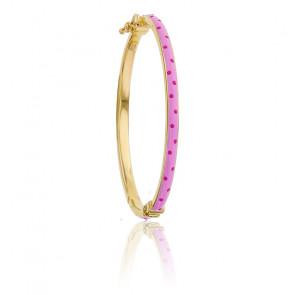 Bracelet Rose en Or Jaune 9K - Lucas Lucor