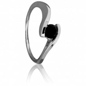 Bague Apesanteur Diamant Noir & Or Blanc 18K