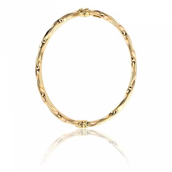 bracelet double jonc en or jaune 9k lucas lucor ocarat. Black Bedroom Furniture Sets. Home Design Ideas
