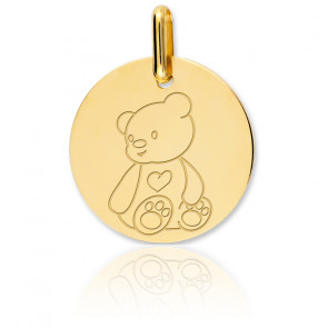 Médaille Ourson Or Jaune 18K