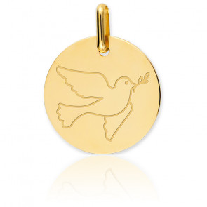 Médaille Colombe Or Jaune 18K - Lucas Lucor