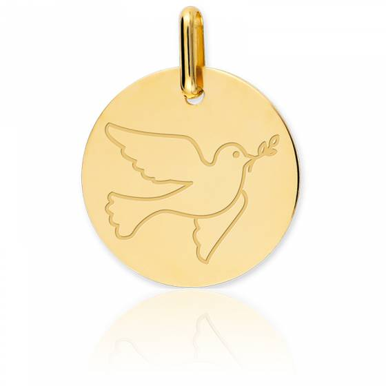 Médaille Colombe Or Jaune 18K
