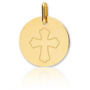 Médaille Croix Or Jaune 18K